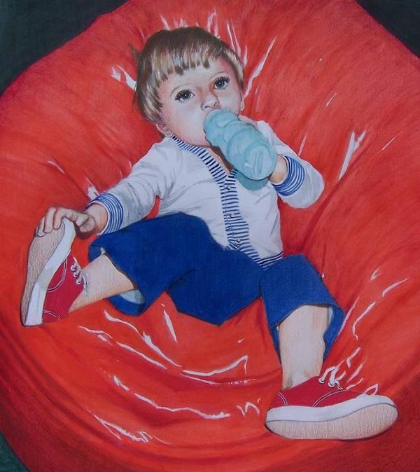 Boy Art Print featuring the mixed media Joey by Constance Drescher