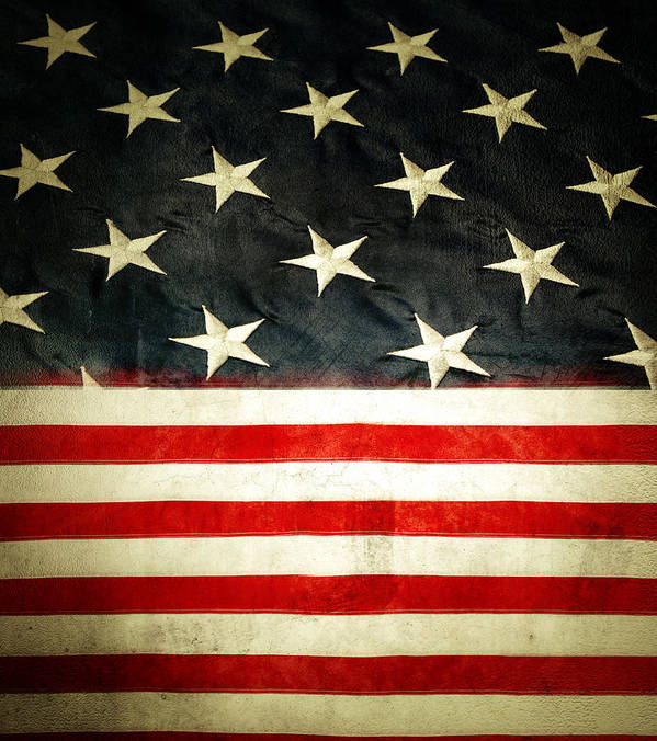 Flag Art Print featuring the photograph Usa Stars And Stripes by Les Cunliffe