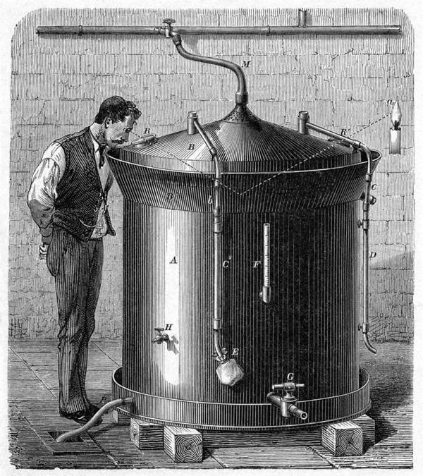 Human Art Print featuring the photograph Brewery Vat, 19th Century by Cci Archives