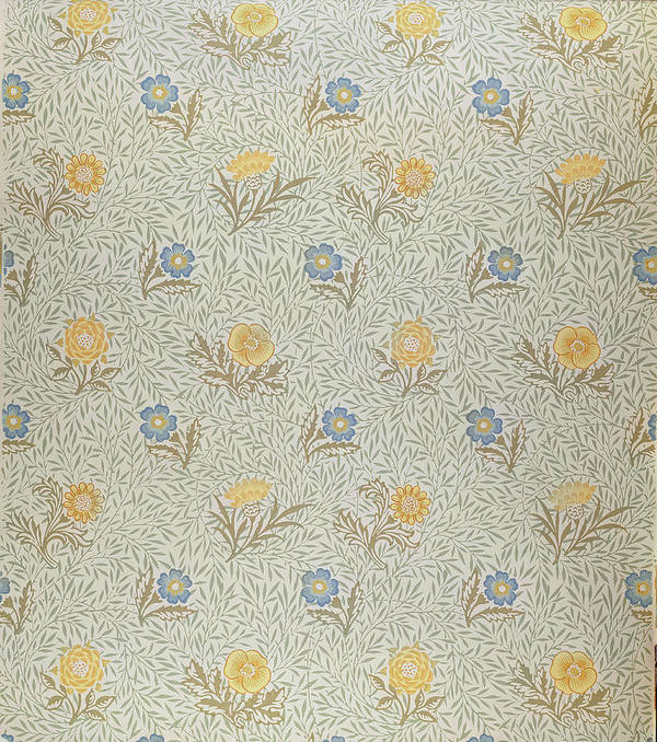 Arts And Crafts Movement; Floral; Pattern Art Print featuring the tapestry - textile Powdered by Wiliam Morris