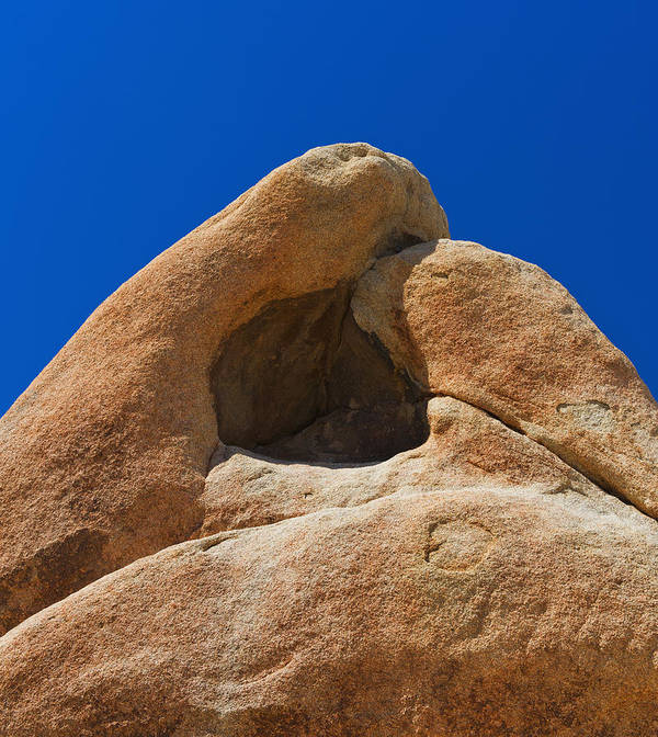 Vertical Art Print featuring the photograph Usa, California, Joshua Tree National Park, Rock Formation by Tetra Images