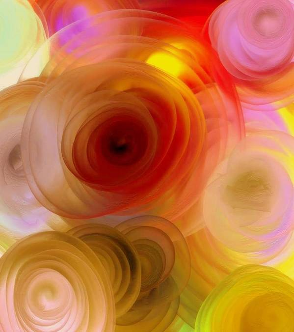 Nature Art Print featuring the painting Beautiful Roses by Janpen Sherwood