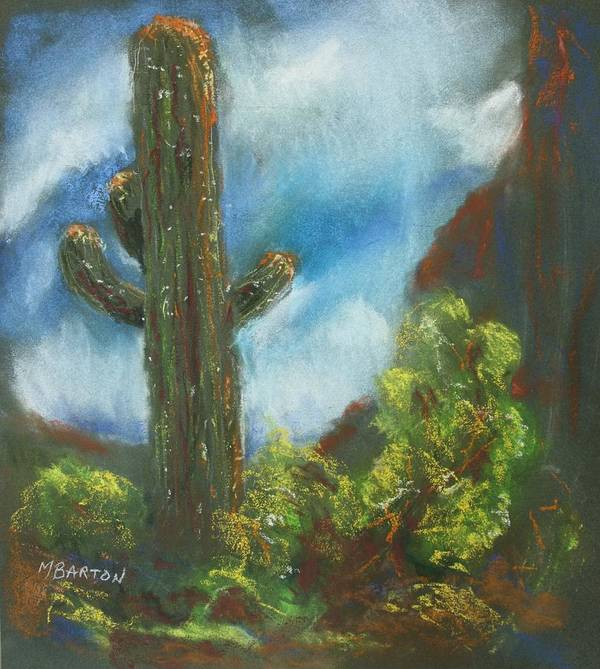 Cactus Art Print featuring the painting Desert Sentinel by Marilyn Barton