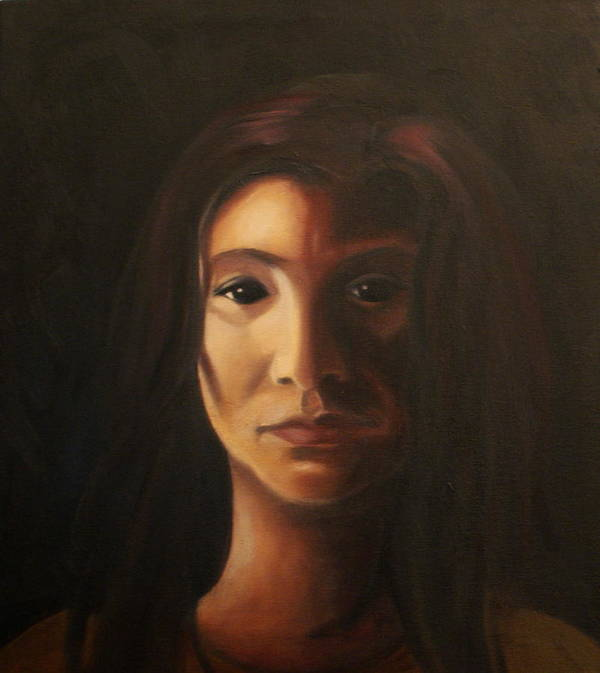 Woman In The Dark Art Print featuring the painting Endure by Toni Berry