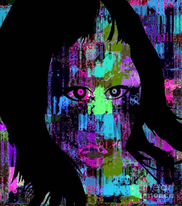 Fania Simon Art Print featuring the mixed media Let My Eyes Speak For Me by Fania Simon