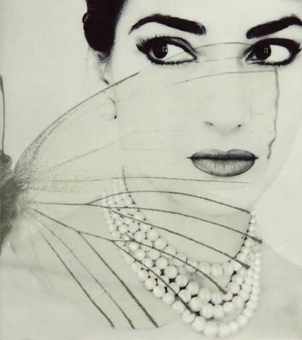 Maria Callas Art Print featuring the digital art Madam Butterfly - Maria Callas by Paul Lovering