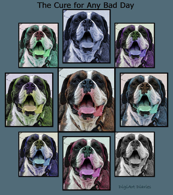 Boxer Art Print featuring the digital art Miles Of Smiles by DigiArt Diaries by Vicky B Fuller