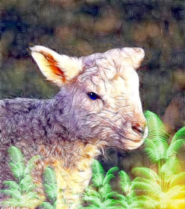 Smudgeart Art Print featuring the digital art Silence Of The Lamb by Madeline Allen - SmudgeArt