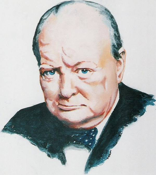 Churchill. Primeminister Art Print featuring the painting Sir Winston Churchill by Barry Smith