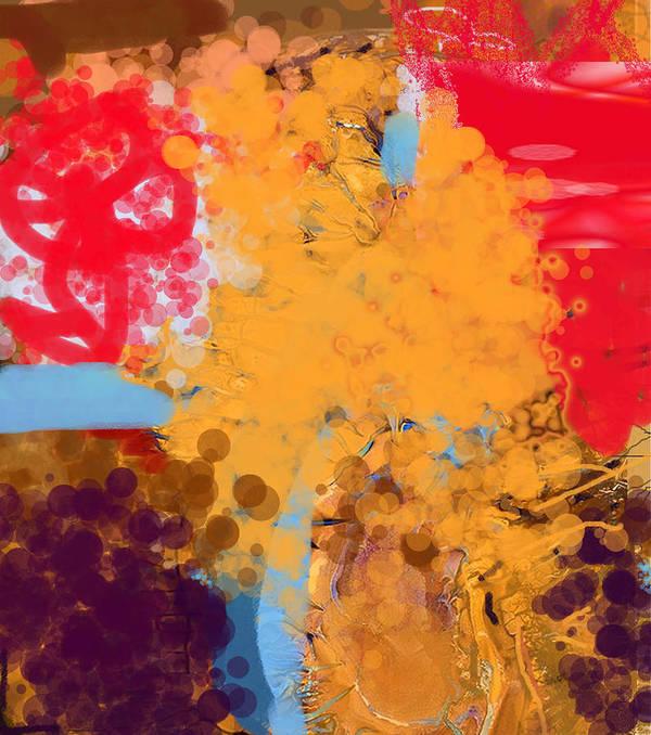 Digital Art Art Print featuring the painting Three Rivers In The Sahara by Ali EL HADJ TAHAR
