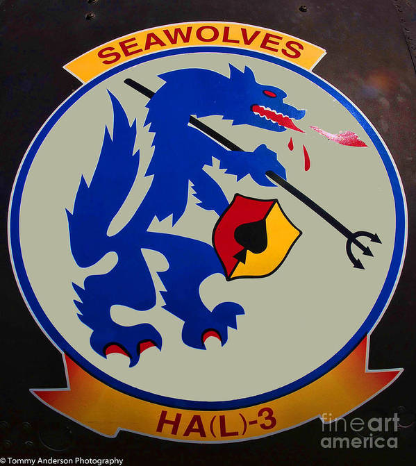 Usn Seawolves Art Print featuring the photograph Usn Seawolves Logo by Tommy Anderson
