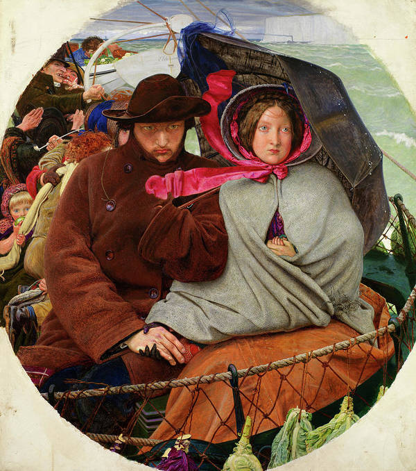 Ford Madox Brown Art Print featuring the painting The Last Of England, 1855 by Ford Madox Brown