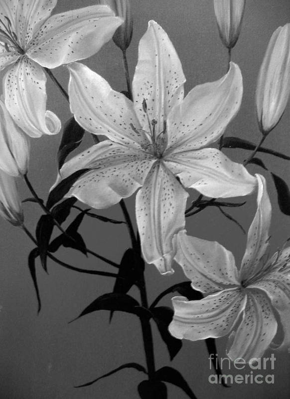 Dlgerring Art Print featuring the painting Summer Lilies by D L Gerring
