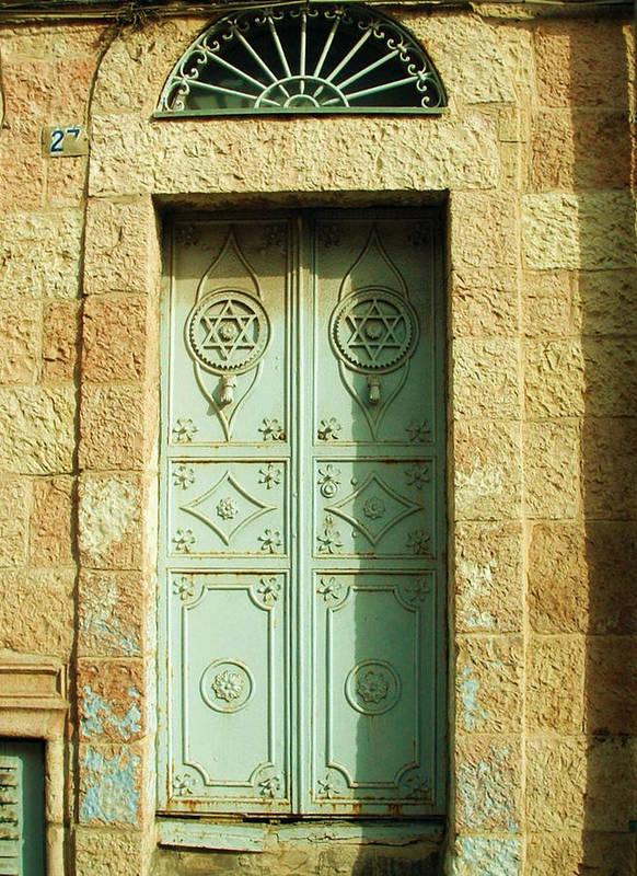 Jerusalem Picture Photo Photograph Photographer Door Art Print featuring the photograph old suburb in Jerusalem. by Shlomo Zangilevitch