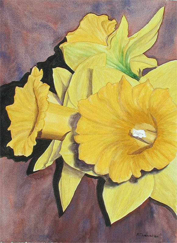 Fine Art Art Print featuring the painting After The Tulips by Robert Thomaston