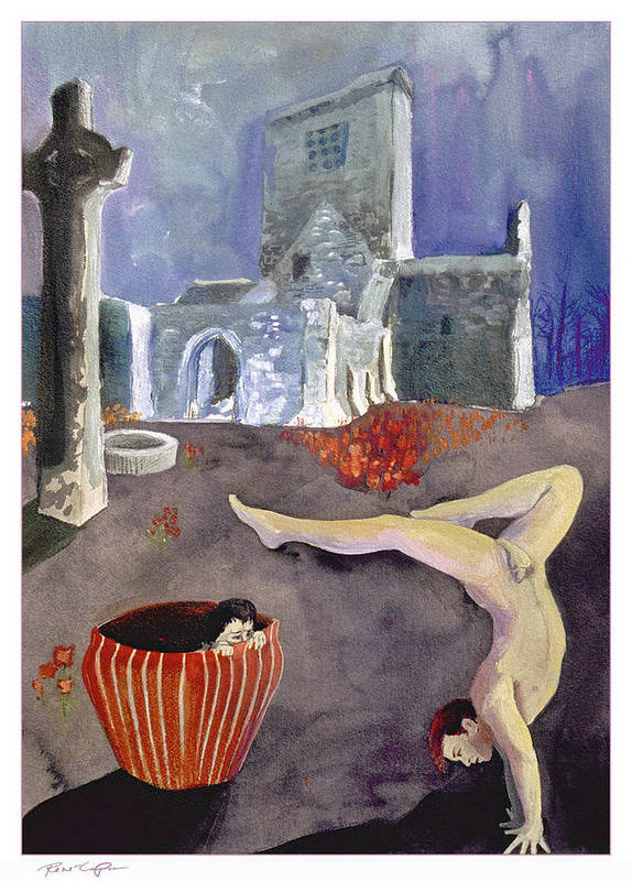 Church Art Print featuring the painting Balance by Rene Capone