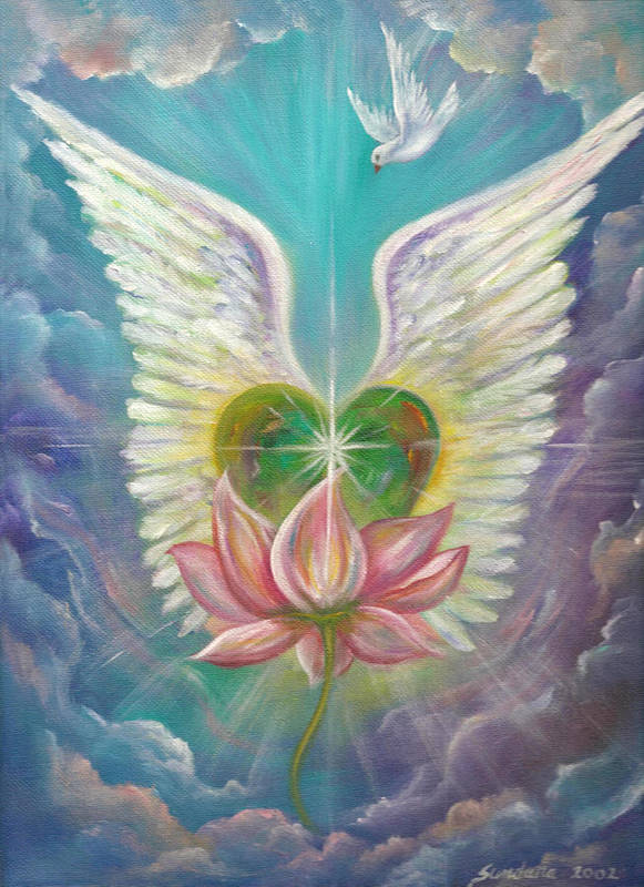 Heart Art Print featuring the painting Emerging Love Opening Heart by Sundara Fawn