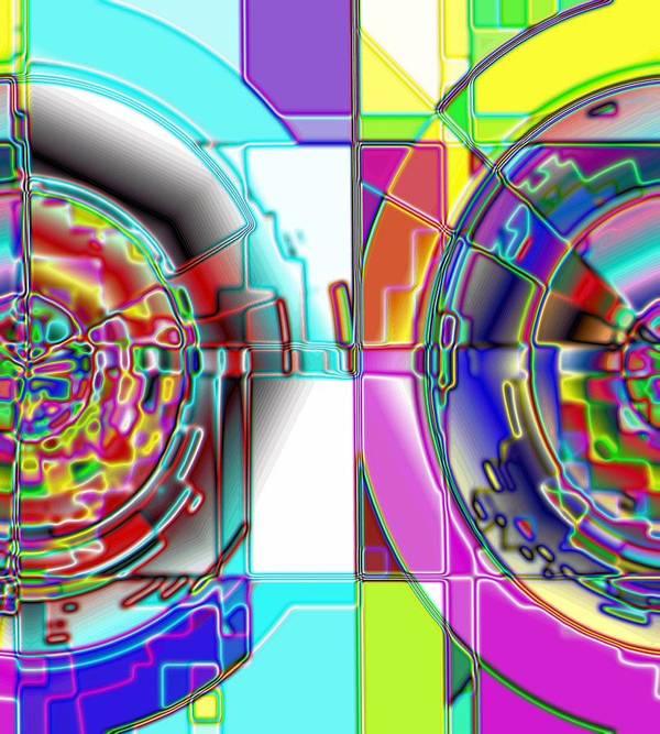 Yellow Art Print featuring the digital art 1-14-2014 by John Holfinger