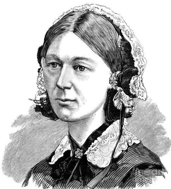 9010e46ffeece 19th Century Art Print featuring the photograph Florence Nightingale by  Granger