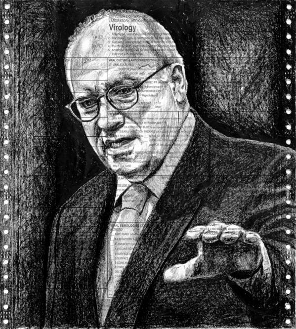 Dick Print featuring the drawing Cheney by Mark Zelmer