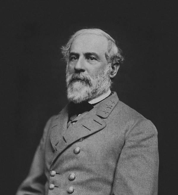 General Lee Art Print featuring the photograph Civil War General Robert E Lee by War Is Hell Store