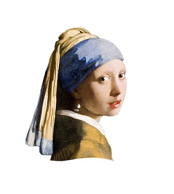 Vermeer Art Print featuring the photograph Girl With Pearl Earring Flip Side by Peter Lloyd