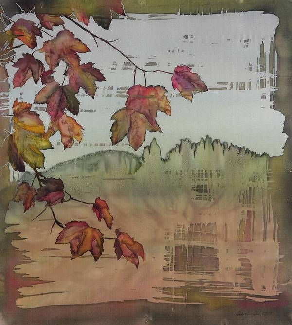 Maple Art Print featuring the tapestry - textile Gold Ridge Maple by Carolyn Doe