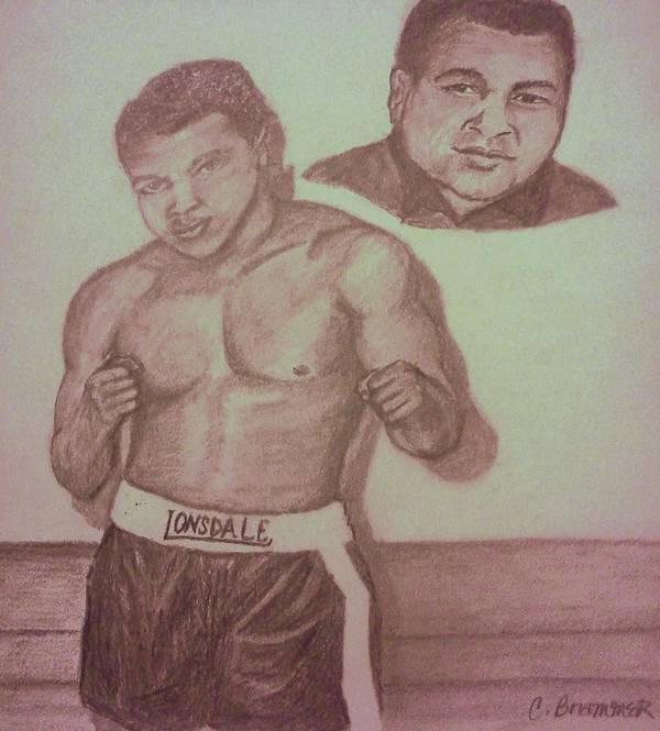Pencil Sketch Art Print featuring the drawing Muhammad Ali by Christy Saunders Church