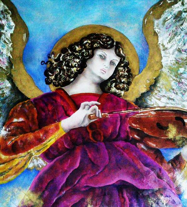 Halo Art Print featuring the painting Angelic by Unique Consignment
