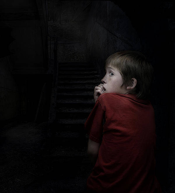 Scared Art Print featuring the photograph Don't Go In The Basement by Hazel Billingsley
