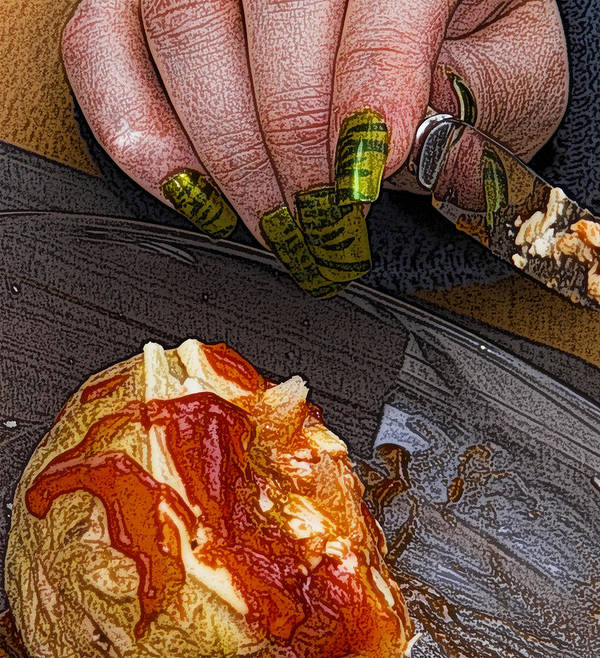 Potato Art Print featuring the photograph Enjoy by Barry Hayton