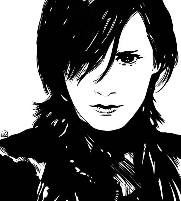 Demon Eyes Art Print featuring the drawing Preppy Vampire by Giuseppe Cristiano