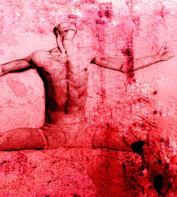 Digital Art Art Print featuring the digital art Agony by Karen Clark