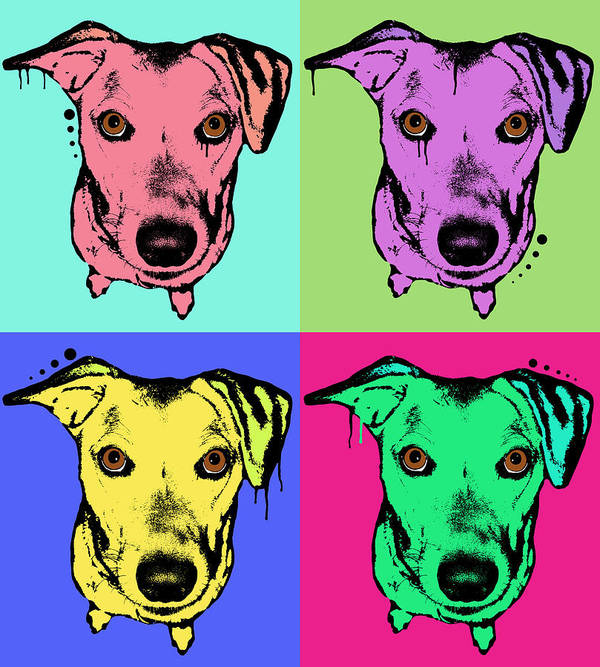 Dog Print featuring the painting Beg Face by Dean Russo