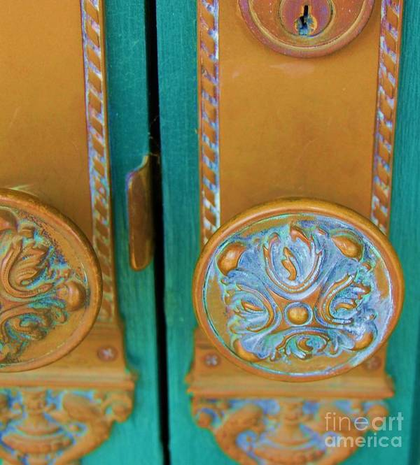 Door Art Print featuring the photograph Brass Is Green by Debbi Granruth