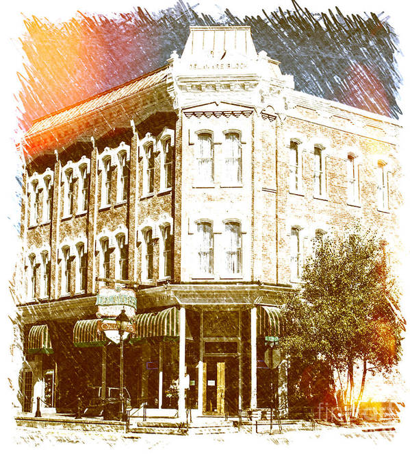 Hotel Art Print featuring the photograph Delaware Hotel by Steven Parker