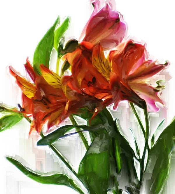 Flowers Art Print featuring the digital art Flowers by Robert Rodda