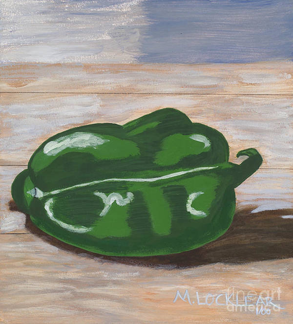 Pepper Art Print featuring the painting Green Pepper by Michelle Locklear