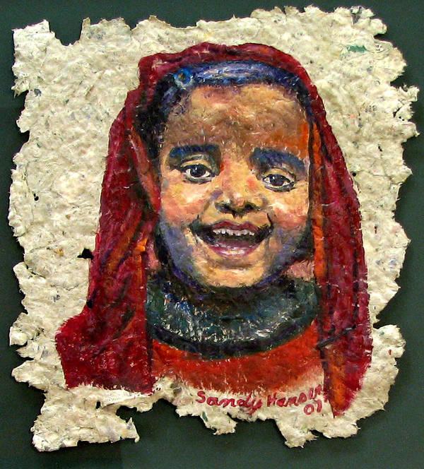 Joy Art Print featuring the painting Joy by Art Nomad Sandra Hansen