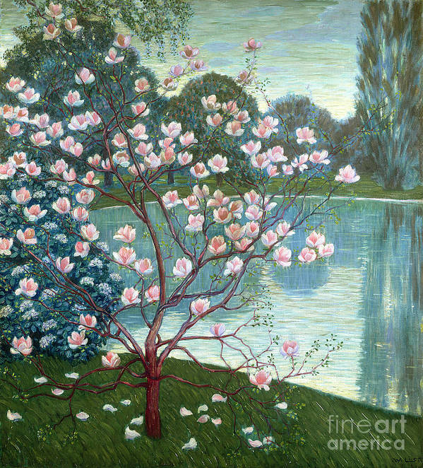 Magnolia Print featuring the painting Magnolia by Wilhelm List
