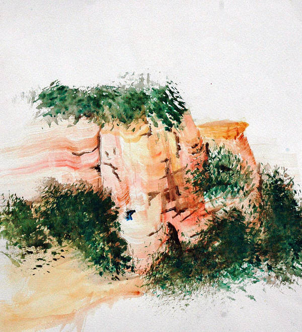 Landscape Art Print featuring the painting Outside Sedona by David Keene