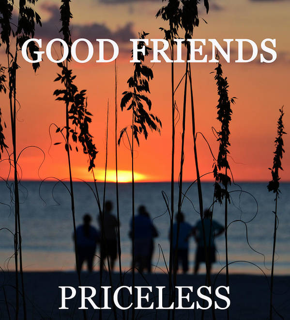 Good Friends Art Print featuring the photograph Priceless by David Lee Thompson