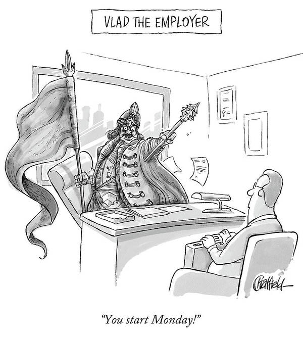 Monday Art Print featuring the drawing Vlad The Employer by Jason Chatfield