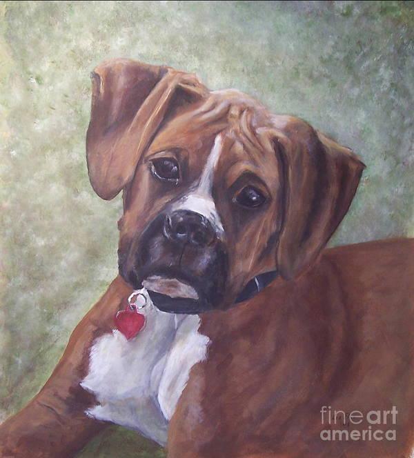 Dog Art Print featuring the painting Windsor by Elizabeth Ellis