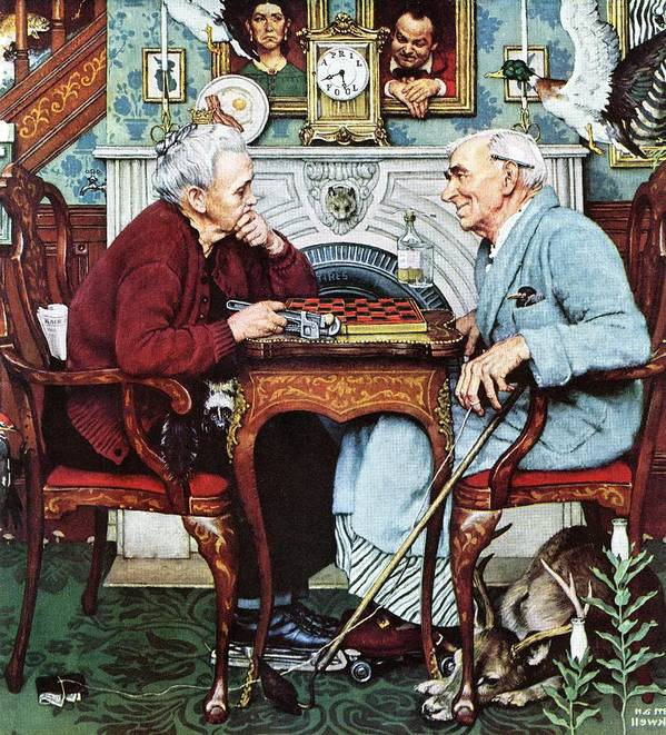 April Fools Art Print featuring the drawing April Fool, 1943 by Norman Rockwell