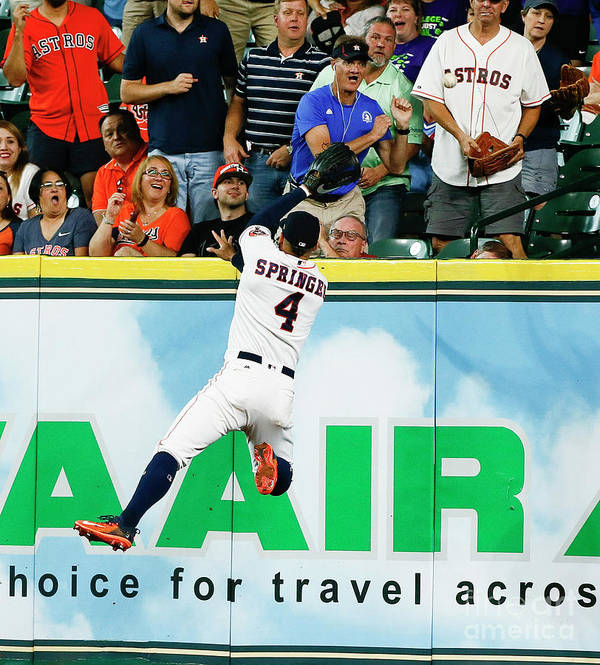 People Art Print featuring the photograph George Springer by Bob Levey