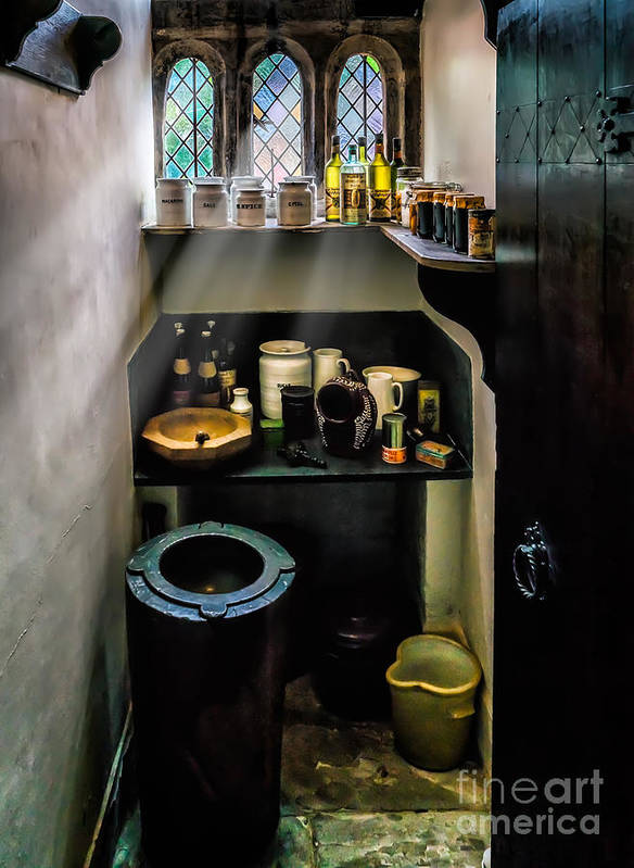 British Art Print featuring the photograph Victorian Pantry by Adrian Evans