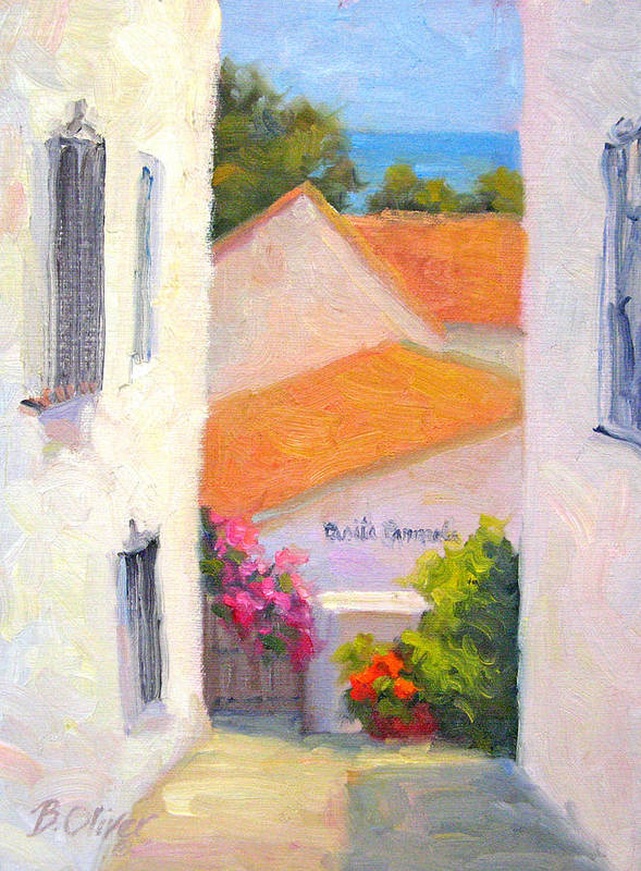 Spain Art Print featuring the painting Casita Carmela by Bunny Oliver