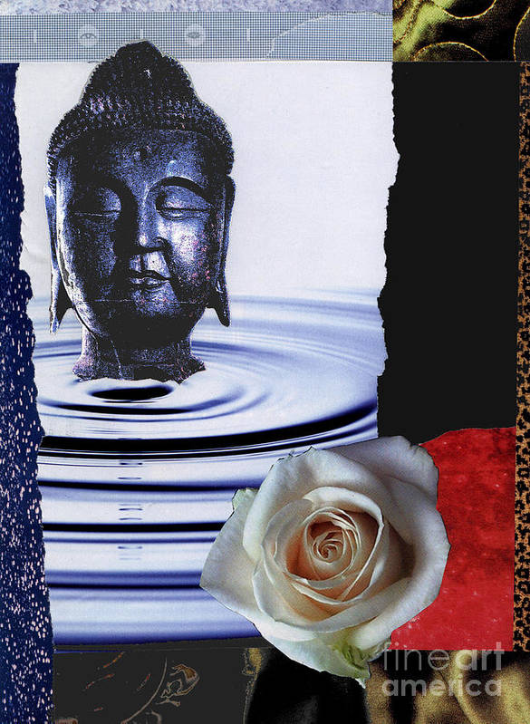 Buddha Art Print featuring the mixed media Namaste by Pederbeck Arte Gruppe