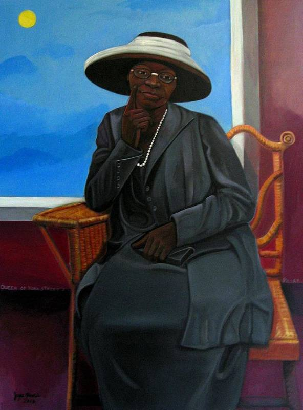 Woman Art Print featuring the painting Queen Of York Street II by Joyce Owens